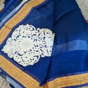 Indian saree blue
